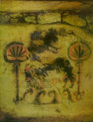 An ancient cave painting from Kyushu, Japan