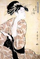 'The courtesan Hanaôgi of the Ôgiya house' by Utamaro (ca. 1790)
